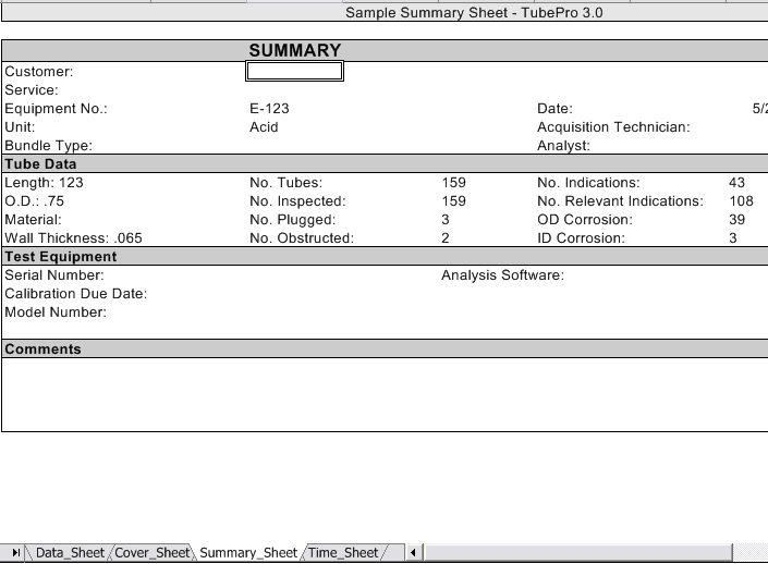 ISS Inspection Software Systems – Sample Summary Report Template